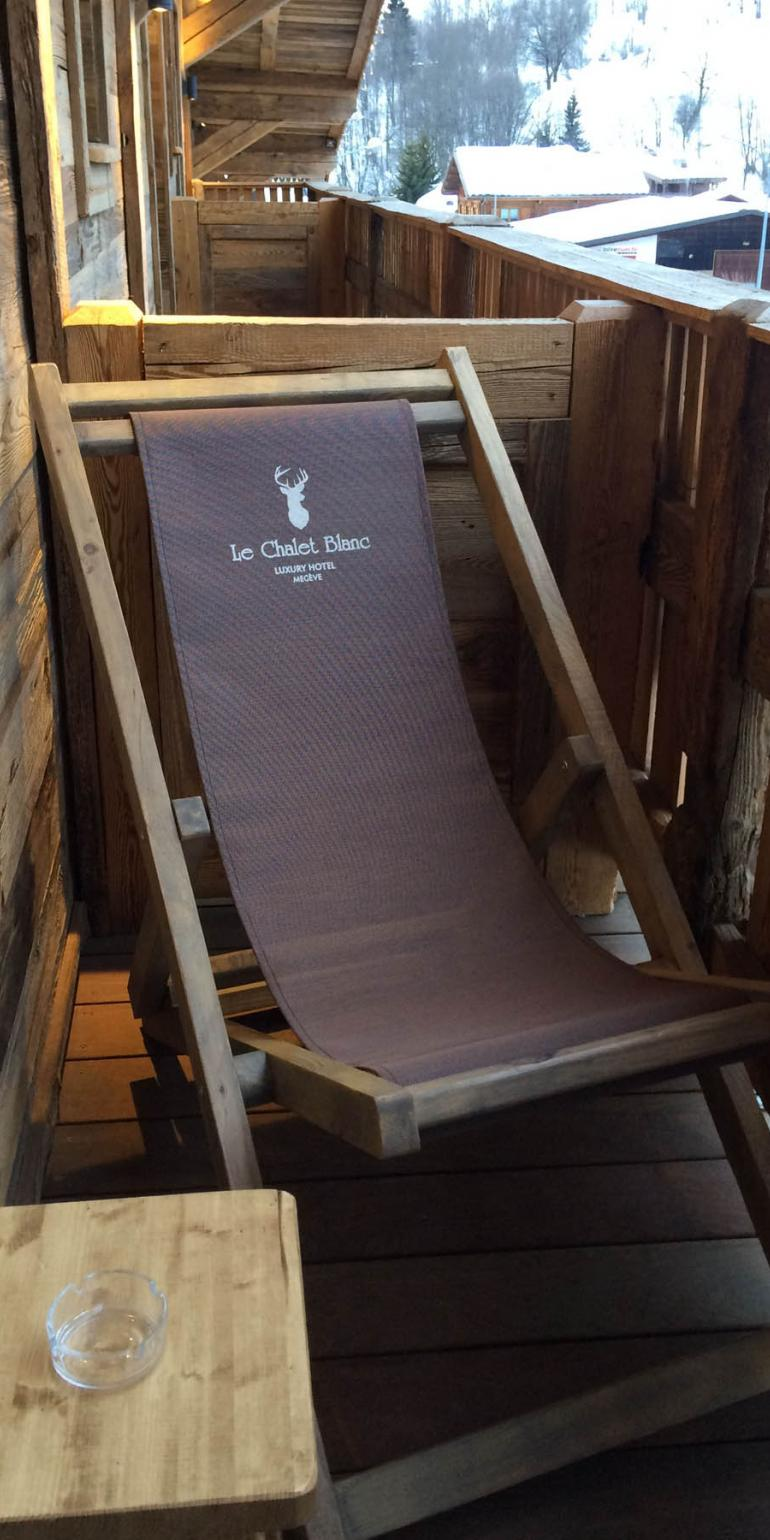 Creation of lounge chair for luxury hotel - Le Chalet Blanc - Megève