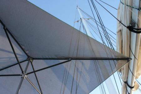 Sun umbrellas for yachts and sailboats