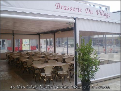 V lum de terrasses de caf restaurant h tel vente velum - Bache restaurant terras ...