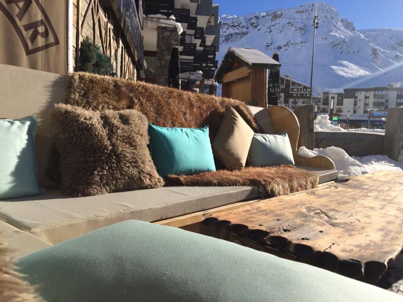 Coussins terrasses extérieur restaurant de montagne - ski - Mousses Etoiles